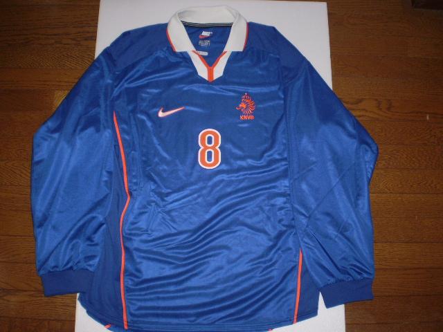 デニス・ベルカンプ 98-99 オランダ代表 アウェイ 実使用ユニフォーム
